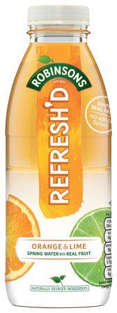 Original PNG-Robinsons Refreshd Orange And Lime PET 500ml