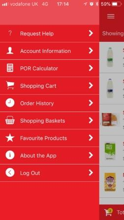 BTP Mobile Ordering App Screenshot (2)