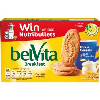 Belvita Milk & Cereal carton Nutribullet 225g Carton Front UK-Ireland