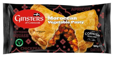 GINSTERS LAUNCHES TWO VEGETARIAN PRODUCTS TO ITS PASTY RANGE