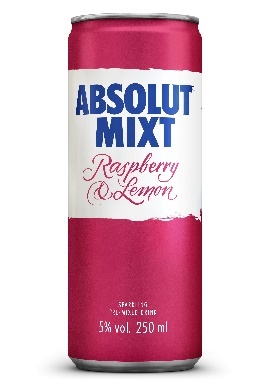 THERE'S A NEW FLAVOUR IN TOWN:  ABSOLUT MIXT RASPBERRY & LEMON