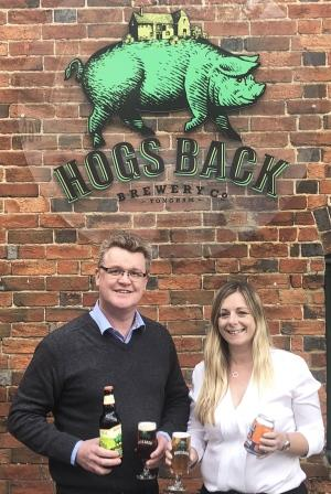 Hogs Back Brewery + Hall & Woodhouse distribution partnership April 2018 2