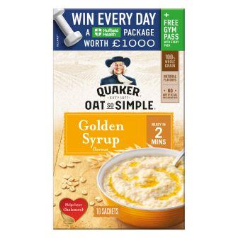 WAKE UP WITH QUAKER OATS THIS WINTER  AND BE IN WITH THE CHANCE TO WIN A NUFFIELD HEALTH PACKAGE
